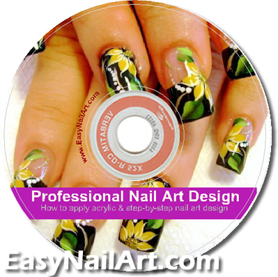 Nail Art Design Acrylic Nail Tip eBook Manual Video Tutorials CD